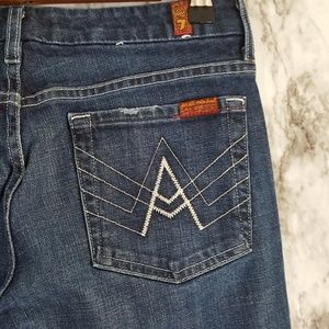 7 For All Mankind Jeans - 7FAM 'A' Pocket Dark Flare Jeans 29 2J75